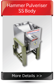 Turmeric Hammer Pulverisr Machine SS Body